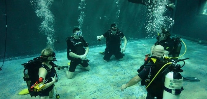 Training at Basildon underwater studios
