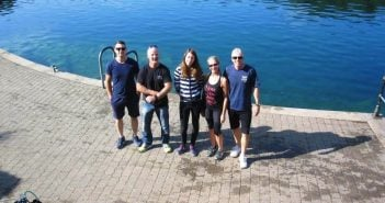 Perfect weather for diving at Stoney Cove