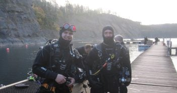Diving in Chepstow, Wales