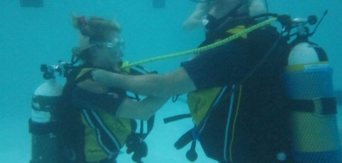 Learning to Scuba Dive in Harlow